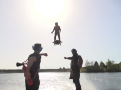 ZAPATA RACING sets new Farthest hoverboard flight record thanks to the prototype FLYBOARD® AIR